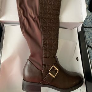 Brown quilted Boots Torrid